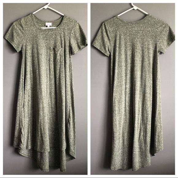 LuLaRoe Dresses & Skirts - Lularoe • Carly Green grey dress